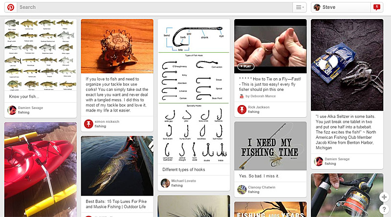 Pinterest - Fishing Pins